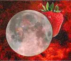 Guess what happens tonight? Strawberry Moon! Strawberry Moon!