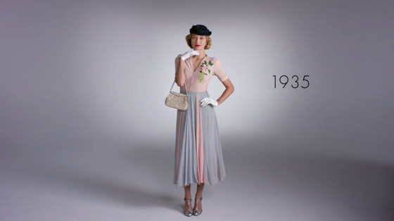 100 years of American fashion in 2 minutes? Obsessed.