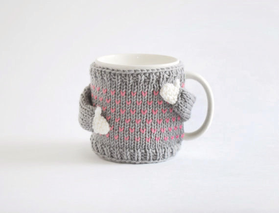 Sweaters for our coffee mugs? Oh, we've been waiting for you.