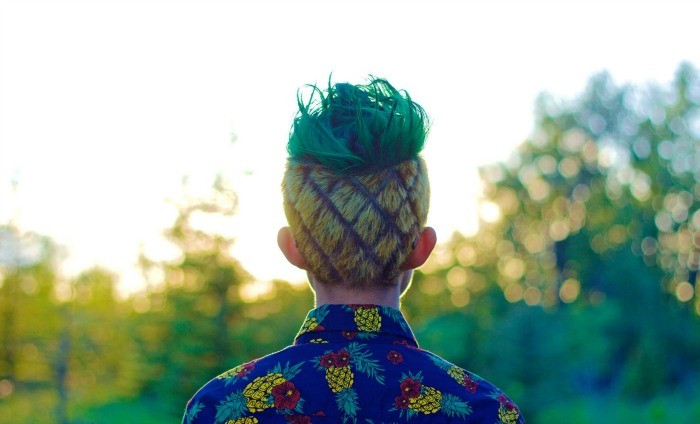 This guy styled his hair like a pineapple and, yup, it's awesome