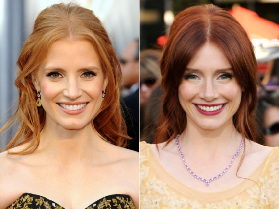 Jessica Chastain and Bryce Dallas Howard are on a social media mission to prove they're different people