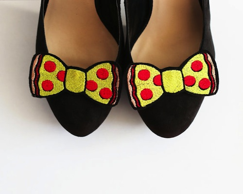 Turn your favorite pair of shoes into an ode to pizza