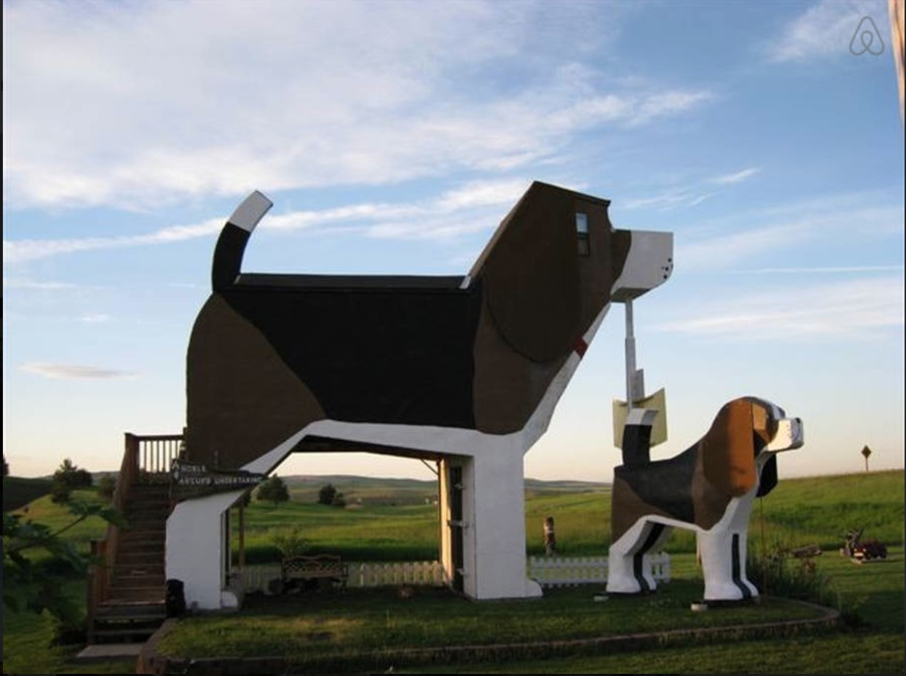So fetch! You can Airbnb this dog-shaped house