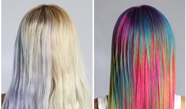 Sand art hair is the latest vibrant hair trend — and it's taking things to a new level