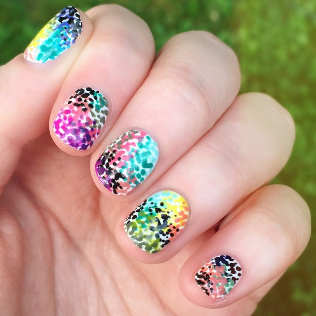Nails of the Day: Pointillism perfection