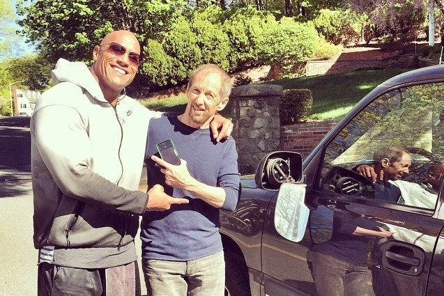 What happens when your car's accidentally sideswiped by The Rock