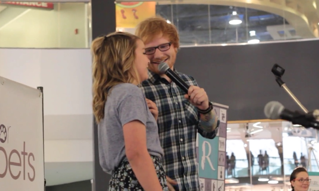This Ed Sheeran fan lived out all of our dreams