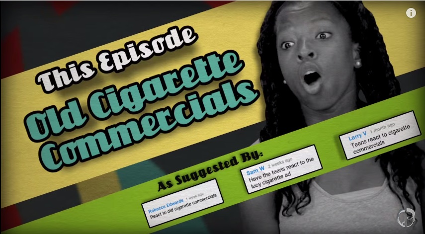 Teens react to old cigarette commercials in a hilariously perfect way
