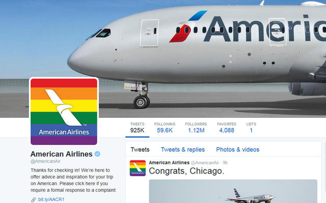 American Airlines' whip-smart response to a homophobic tweet