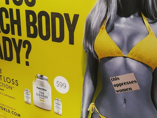 The rad campaign combatting body-shaming ads—one sticker at a time