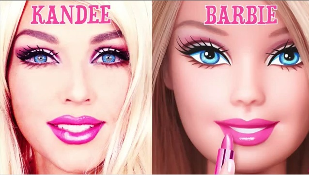 This woman's 90-second Barbie makeup transformation is mesmerizing