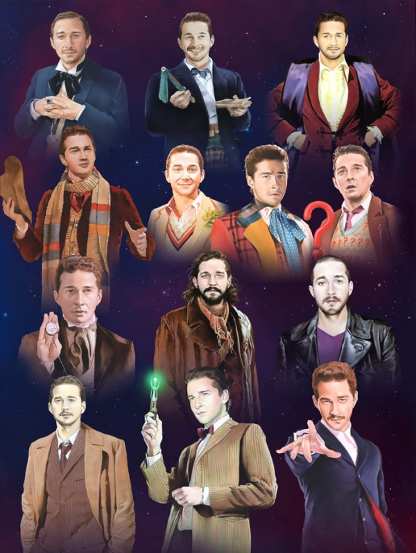 The world needed these portraits of Shia LaBeouf as 'Doctor Who' characters