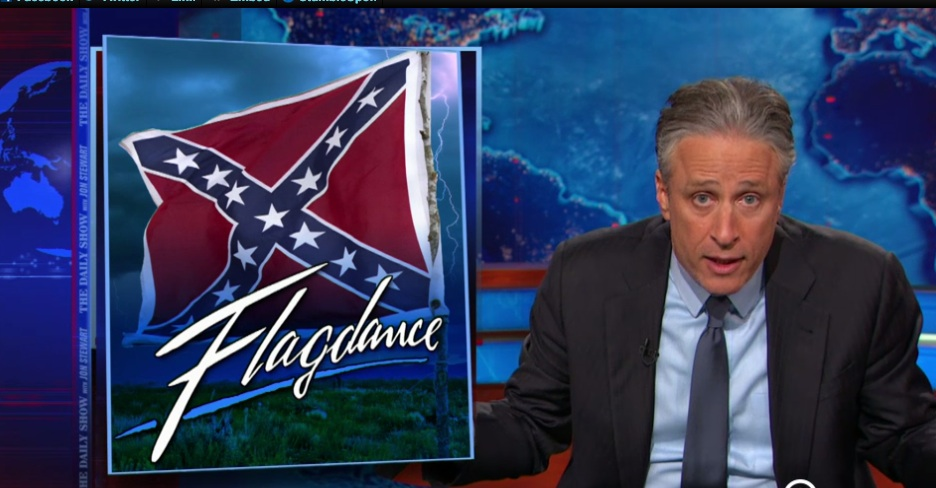 Jon Stewart on the Confederate flag debate—you'll want to watch this