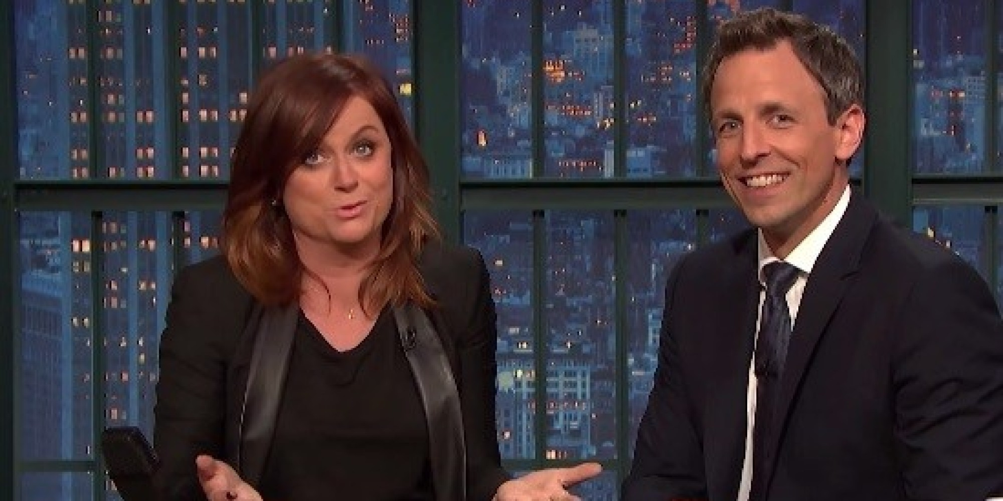 Seth Meyers and Amy Poehler call out sexist sports coverage. Really!