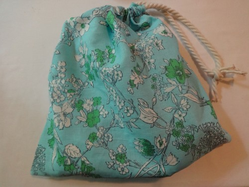 Hit the beach in summery style with this DIY drawstring bag