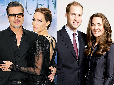 Angelina and Brad just had tea with Prince William and Kate Middleton, teatime will never be the same