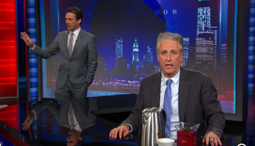 Jon Hamm hilariously reminds us of Jon Stewart's other talent