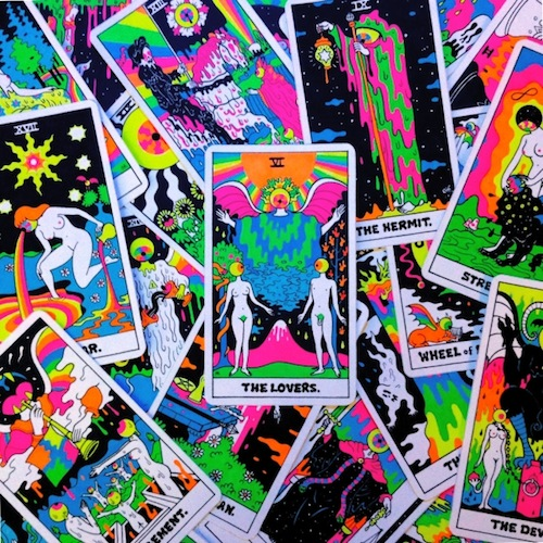 Find your fortune with these psychedelic tarot cards