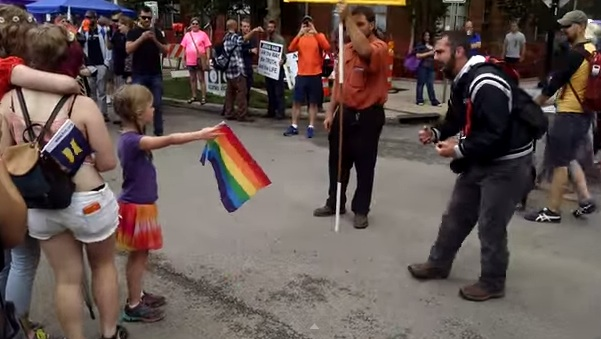 Watch this badass little girl take a stand against a homophobia