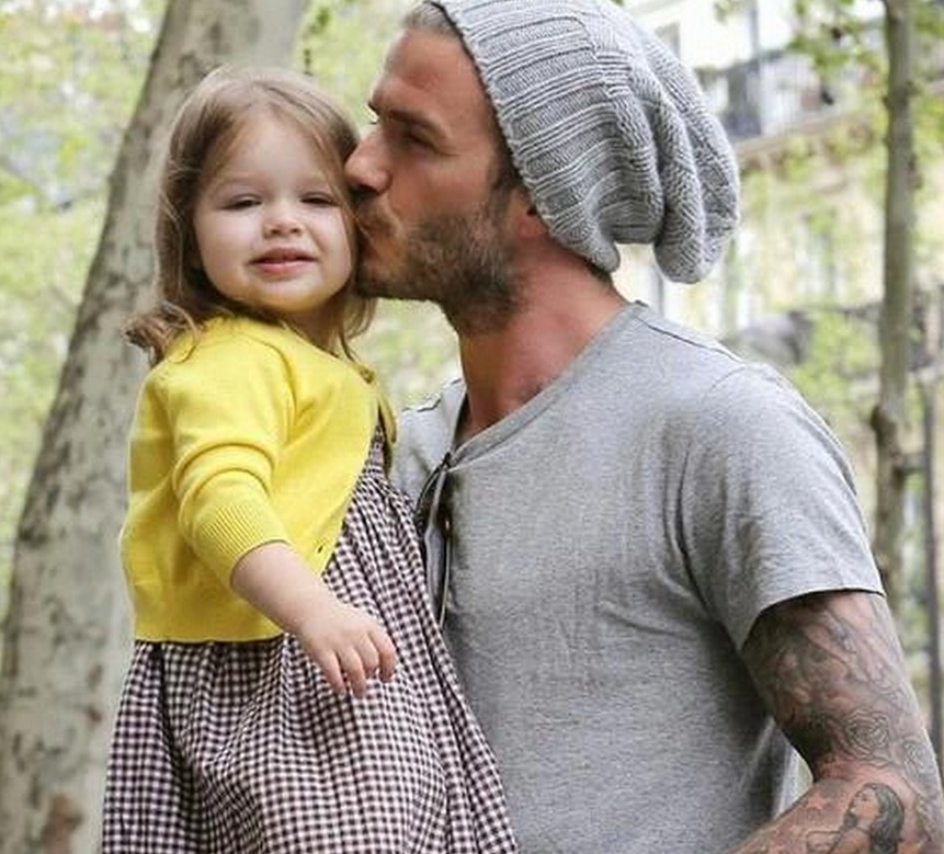 David Beckham's daughter got to pick out his new tattoo, and it's glorious