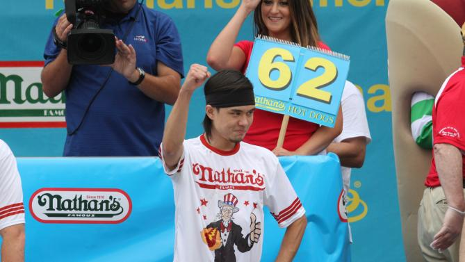 All hail Matt Stonie, our new reigning hot dog eating champ