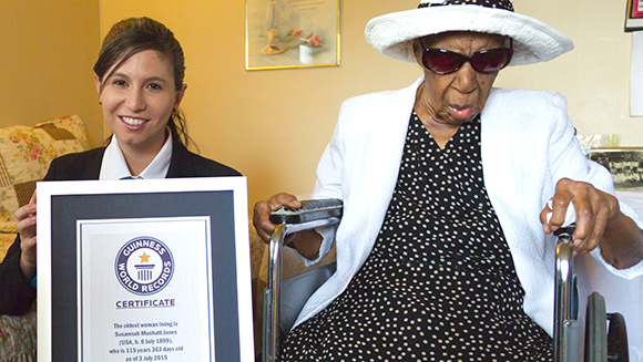 Happy birthday to the world's oldest woman!