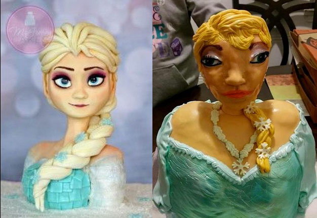So here's the story behind the cake that was supposed to be Queen Elsa