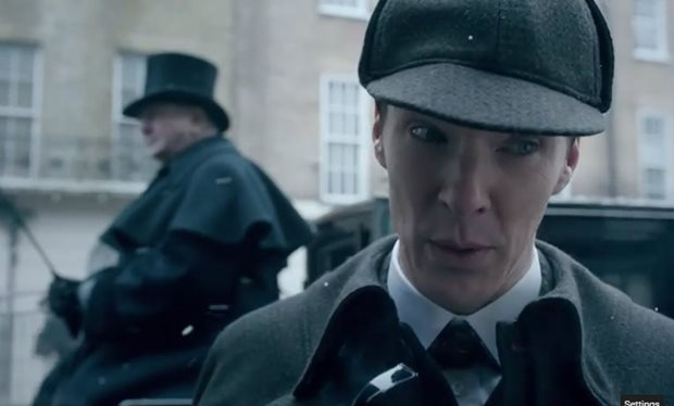 Guys, the first clip from the new 'Sherlock' special was just released. AT LAST.
