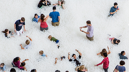 There are nearly one million balls in this ball pit. We want to go to there.