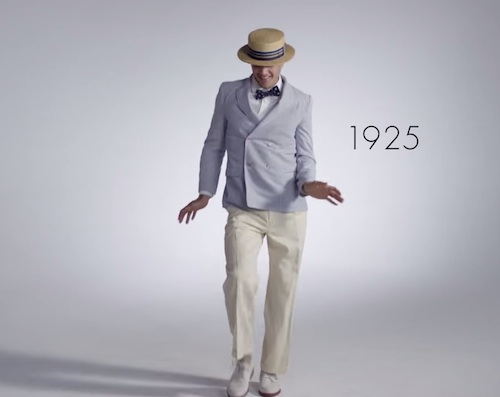 Just staring at this '100 Years of Men's Fashion' vid