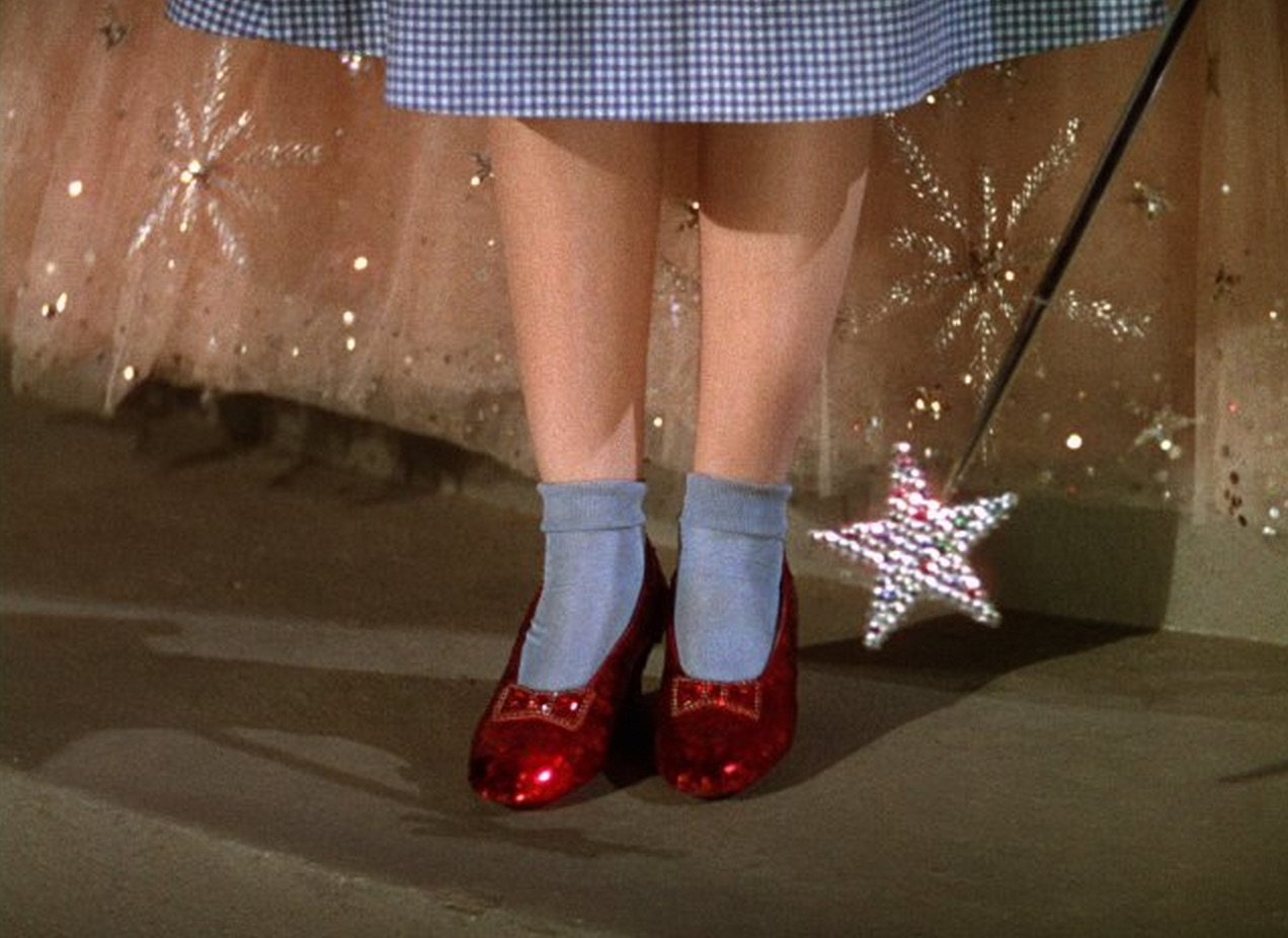 A $1 million reward is being offered for Dorothy's stolen ruby slippers