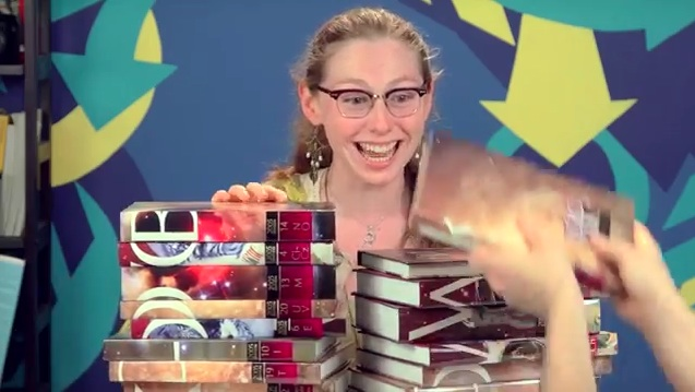Teens are given encyclopedias and react exactly how anyone who's always had the Internet should