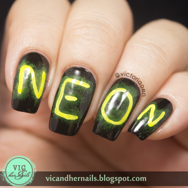 Nails of the Day: Say it in neon