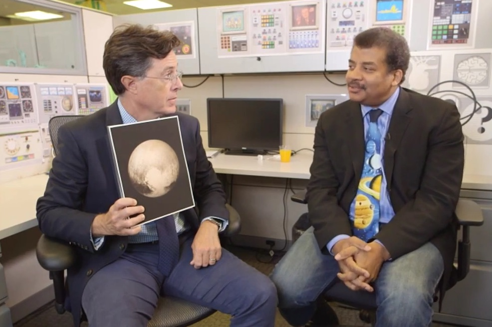 Neil Degrasse Tyson explains this whole Pluto situation to Stephen Colbert
