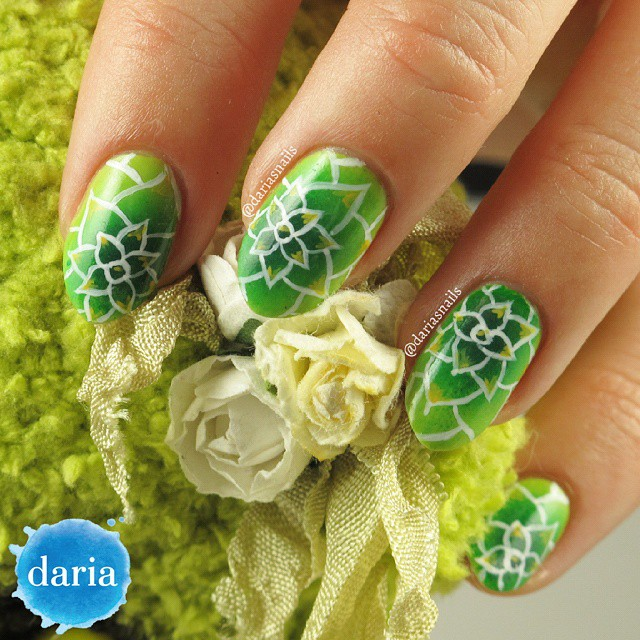 Nails of the Day: Succulent plants