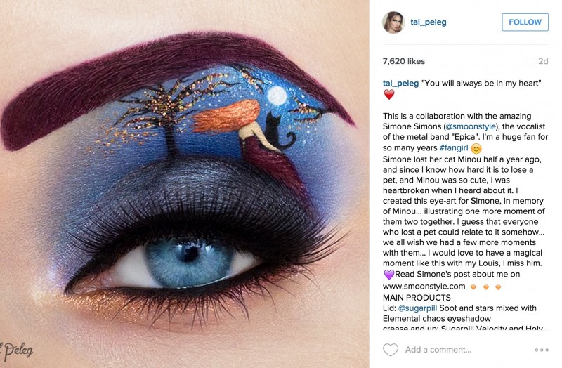 We're absolutely floored by this beautiful eye makeup art