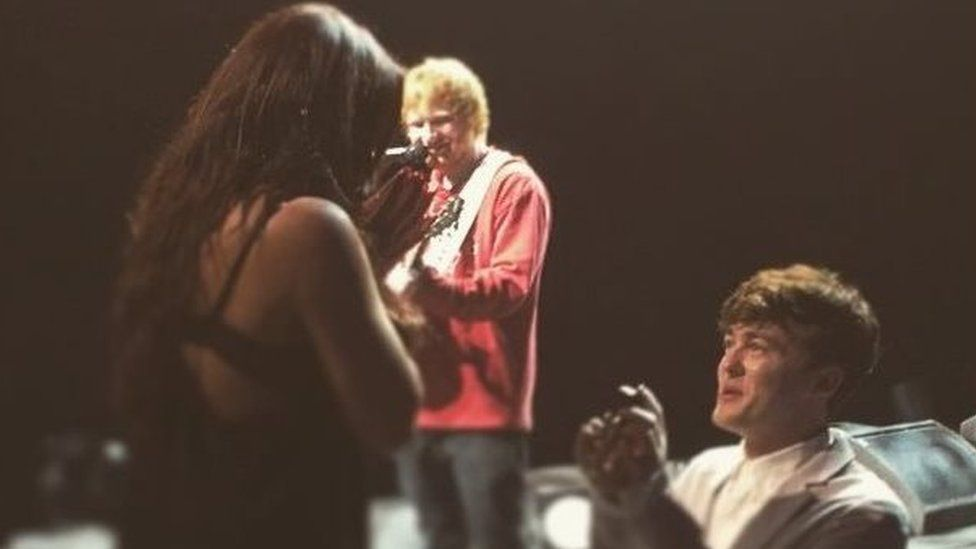 Ed Sheeran helped his friend propose in the most swoon-worthy way