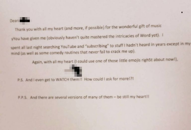 Here's the sweetest note from a woman who just learned the joys of the Internet
