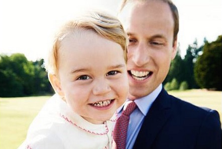 This birthday portrait of Prince George. Our hearts.