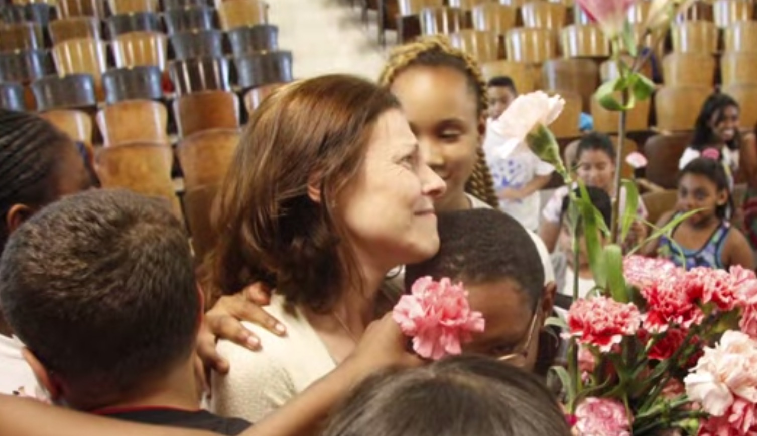 The PS22 chorus just gave their teacher the most amazing gift. Pass the tissues.