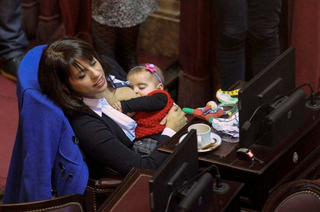 Why it's important that this Argentinian politician was breastfeeding her baby on the job