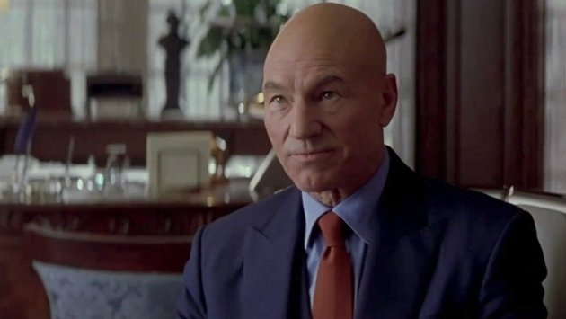True, Patrick Stewart isn't in 'X-Men: Apocalypse' — but he still totally comes and hangs out on set