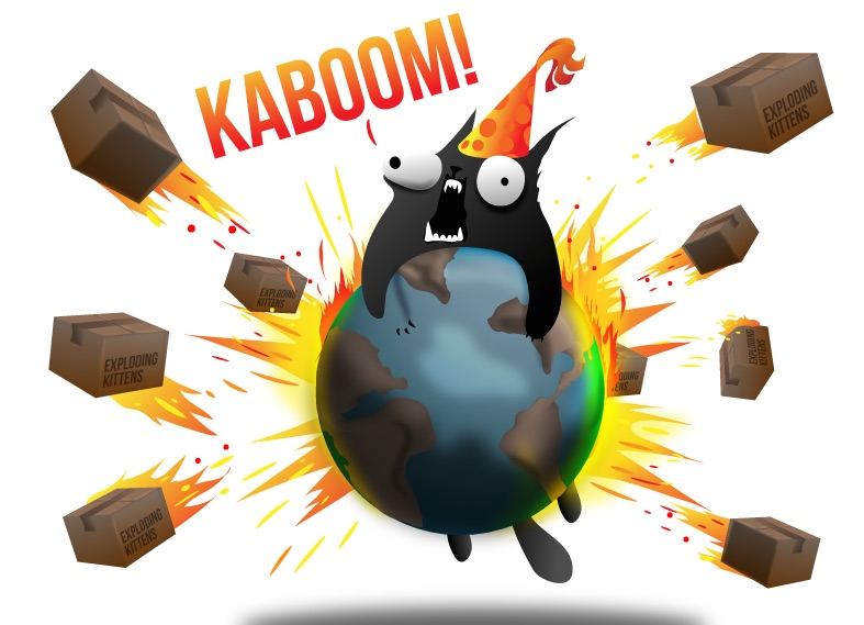 The Exploding Kittens card game is a kind of amazing internet sensation