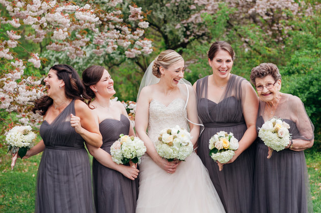 So sweet! This bride had her 89-year-old grandma be one of her bridesmaids