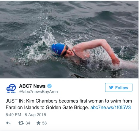 This woman just made history by swimming 30 miles through shark-infested waters