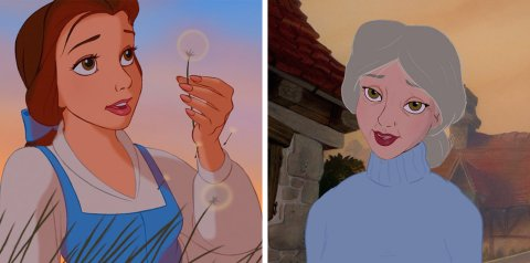 Here's what Disney Princesses would look like if they actually aged