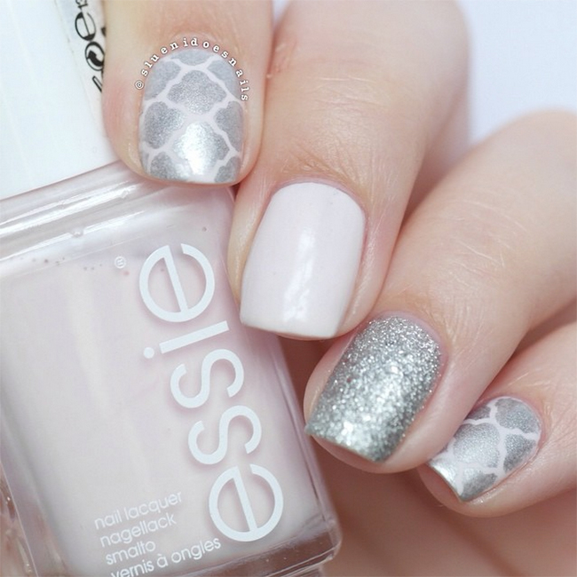 Nails of the Day: Sweetly silver