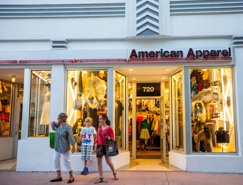 American Apparel Store Entrance, Miami Beach