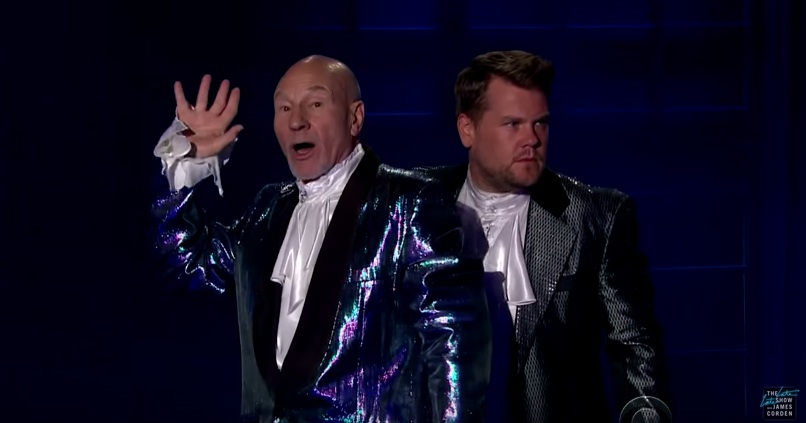 Sir Patrick Stewart puts on a magic show, and it's delightfully ridiculous