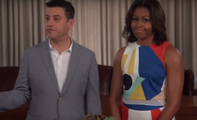 Jimmy Kimmel and Michelle Obama joined forces for an 'Effin V' PSA